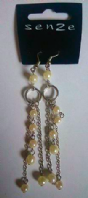 Senze pearl effect drop earrings (Code 2644)